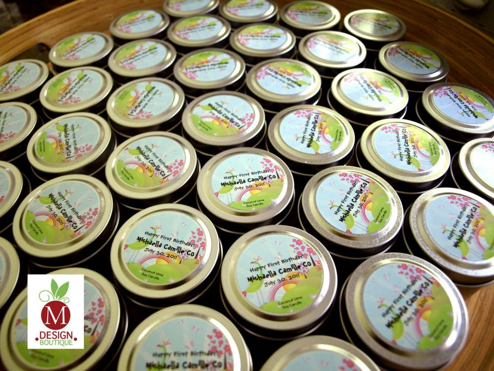 Customized Wedding Favor Candles